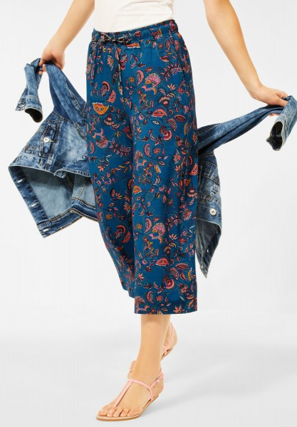 CECIL - Loose Fit Hose mit Paisley in Ocean Blue