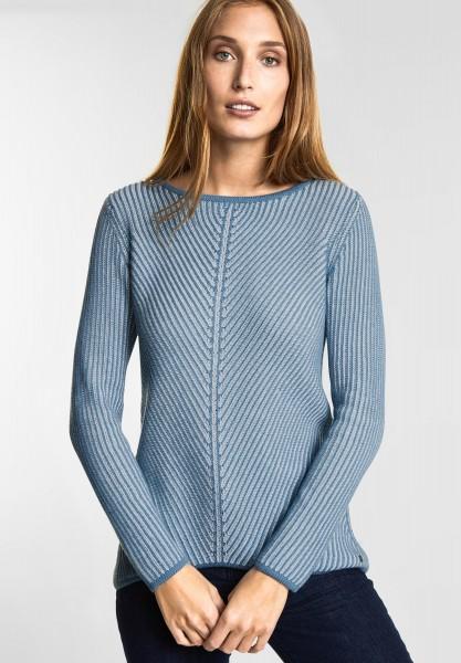 CECIL Struktur Pullover Gabrielle in Milky Denim Blue
