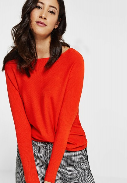 Street One - Basic Pullover Noreen in Hot Orange