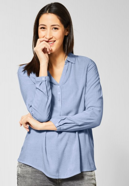 Street One - Chambray Bluse in Heaven Blue