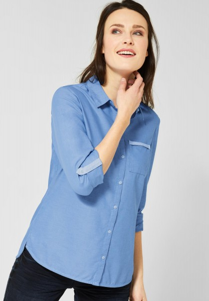 CECIL - Hemdbluse im Oxford-Look in Blouse Blue