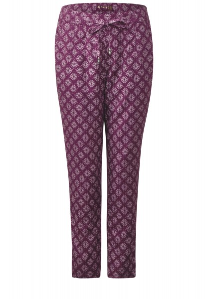 Street One - Lockere Print Hose Lina in Sunny Violet