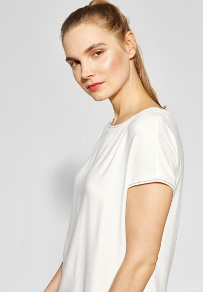 Street One - Shirt mit Glitzer Sahira in Off White