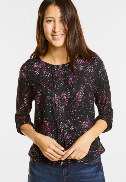 Street One - Bluse mit Biesen und Sternen in Black
