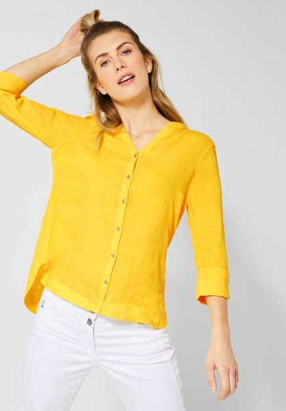 CECIL - 3/4-Arm Bluse aus Leinen in Sunny Yellow