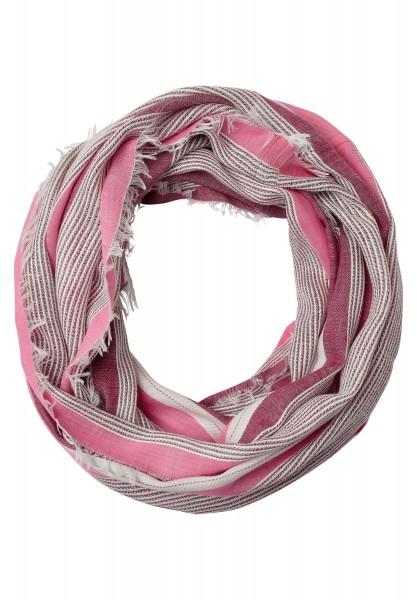 CECIL - Struktur Streifen Loop in Deep Pink