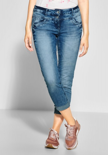 CECIL - Tapered Leg Denim Scarlett in Authentic Used Wash