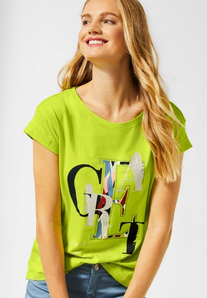 Street One - T-Shirt mit Print in Laser Lime