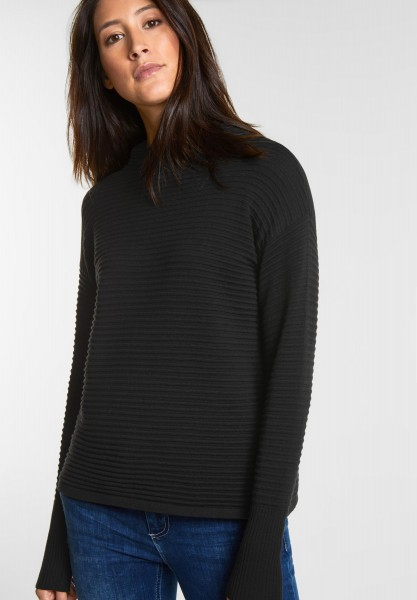 Street One - Struktur-Pulli Lykka in Black