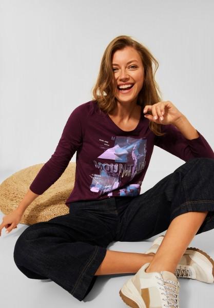CECIL - Shirt mit Fotoprint in Red Grape