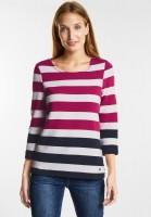 CECIL Strukturiertes Sweatshirt in Bright Magenta