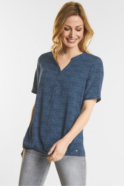 CECIL - Grafikprint Bluse Juliane in Deep Blue