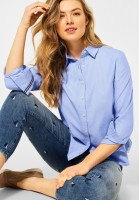 CECIL - Bluse mit Hemdkragen in Quiet Blue