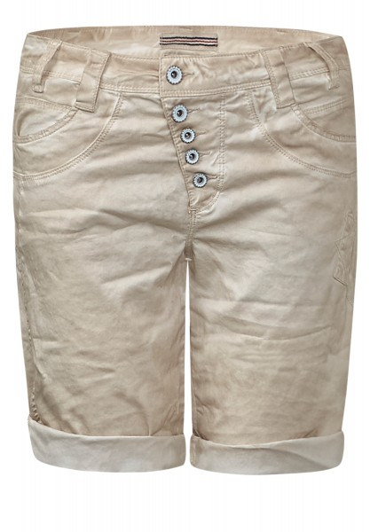 Street One - Oil-Wash Bermudashorts Bella Natural Cream