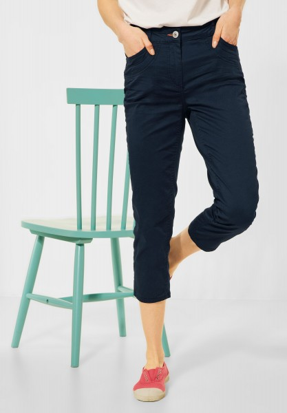 CECIL - Slim Fit Hose in High Waist in Deep Blue