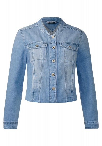 Street One - Cropped Jeansjacke Suzanne in Natural Bright Blue wash