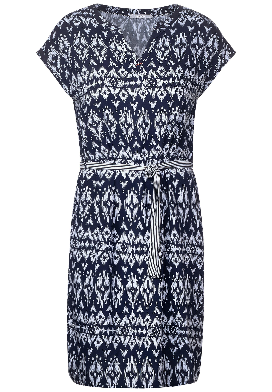 Kleid mit Ethno-Muster in Deep Blue von CECIL online kaufen