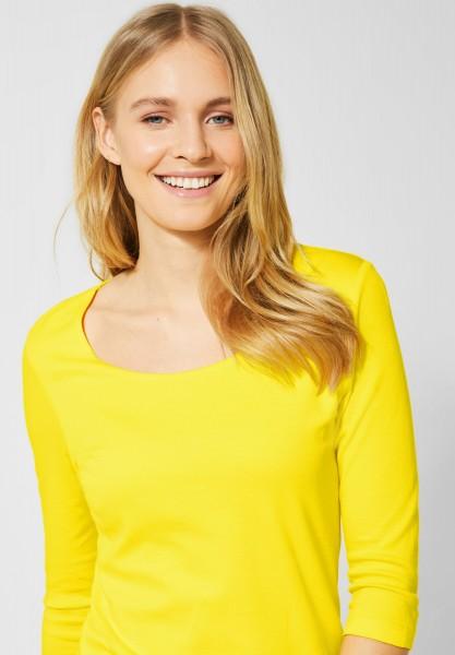 Street One - Basic Shirt Pania in Shiny Yellow
