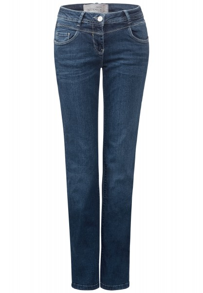 CECIL - Straight Leg Denim Toronto Mid Blue Used Wash