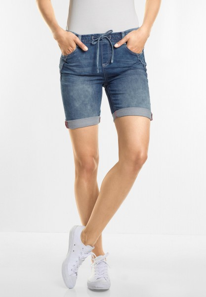 Street One - Denimstyle Bermuda Bonny in Blue Random Bleach