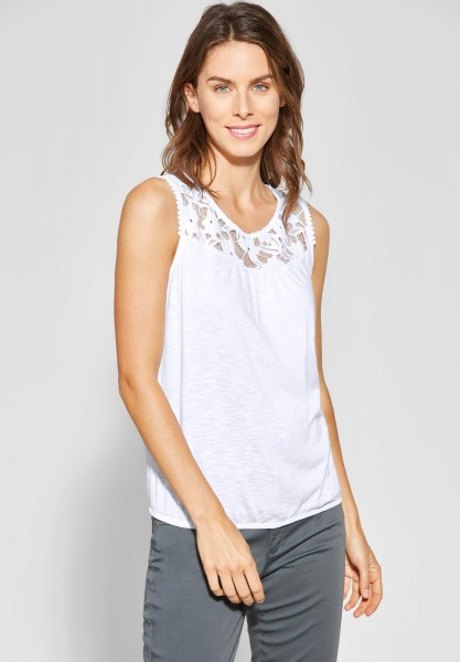 Street One - Shirt mit Spitze Vicky in White