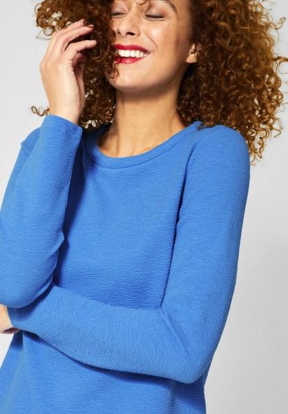 Street One - Shirt Gesina mit 3D Kragen in Spring Blue