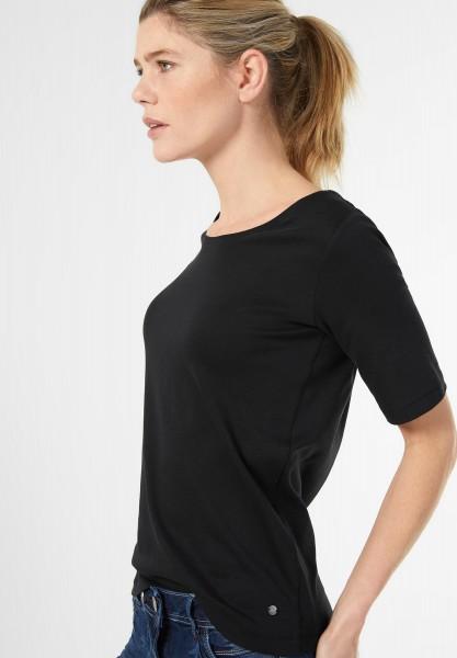 CECIL - Basic Halbarmshirt Lena in Black