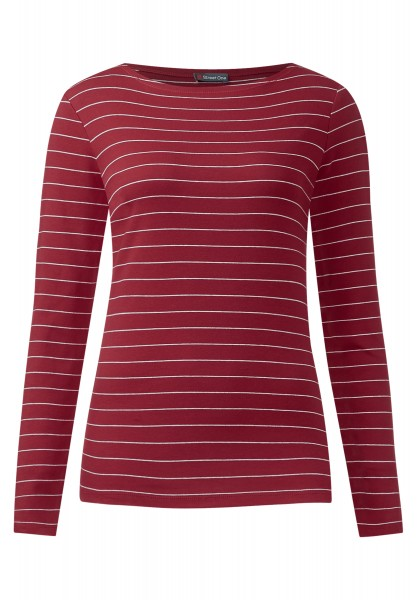 Street One - Basic-Shirt Holly Vintage Red