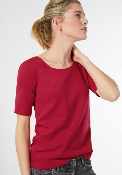 CECIL - Basic Halbarmshirt Lena in Just Red