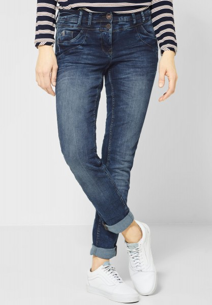 CECIL - Denim Scarlett mit Roségold in Mid Blue Wash