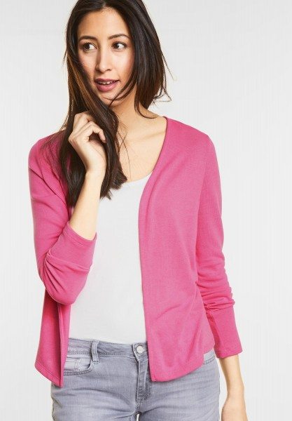 Street One - Open Style Cardigan Nette in Flamingo Pink