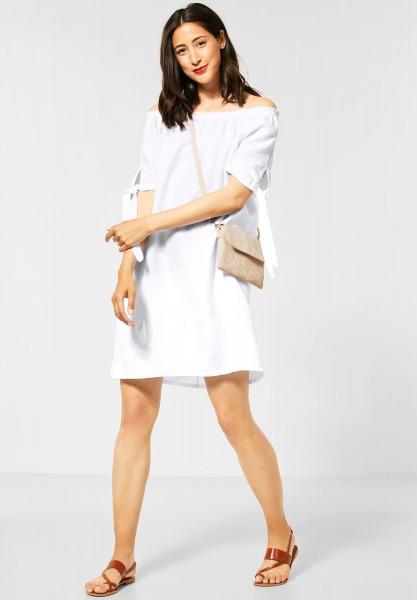 Street One - Leinenkleid in Unifarbe in White