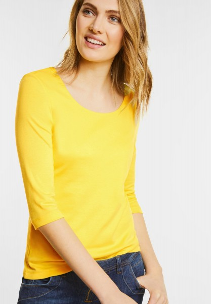Street One - Schmales Basic Shirt Pania in Canary Yellow