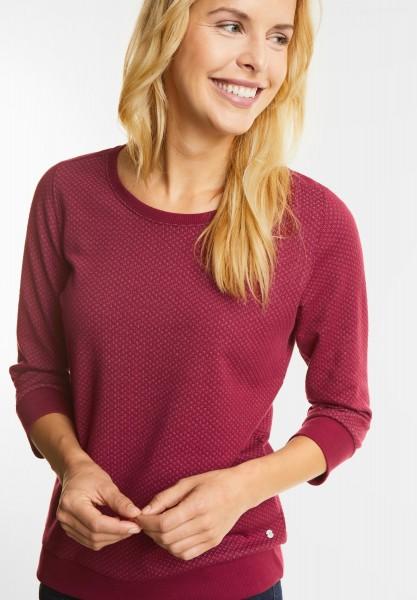 CECIL - Karostruktur Shirt Finja in Velvet Red