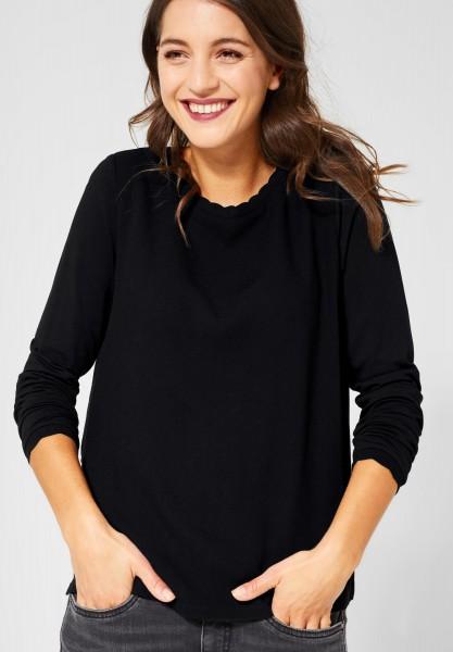 Street One - Shirt mit Wellenkante Davia in Black