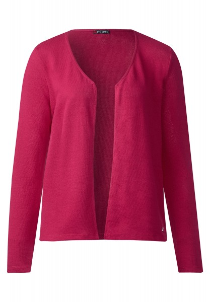 Street One - Offene Basic Jacke Nette in Passion Pink