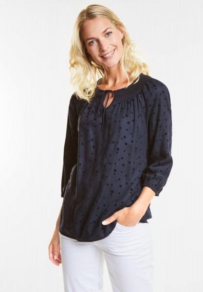 CECIL Sternprint Bluse in Deep Blue