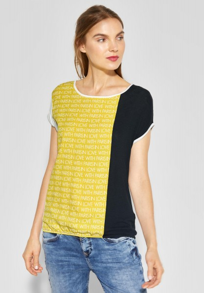 Street One - Colorblock-Shirt Vianna in Creamy Lemon