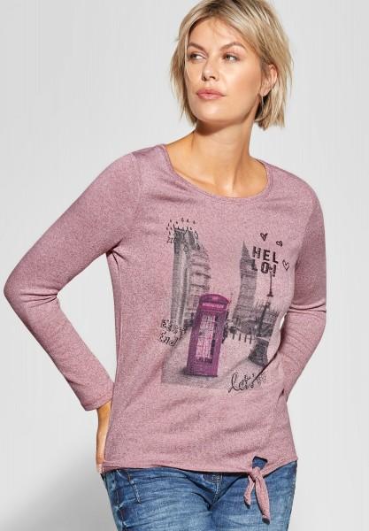 CECIL - Shirt mit Fotoprint in Rose Melange