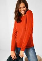 CECIL - Basic Pullover in Paprika Orange Melange