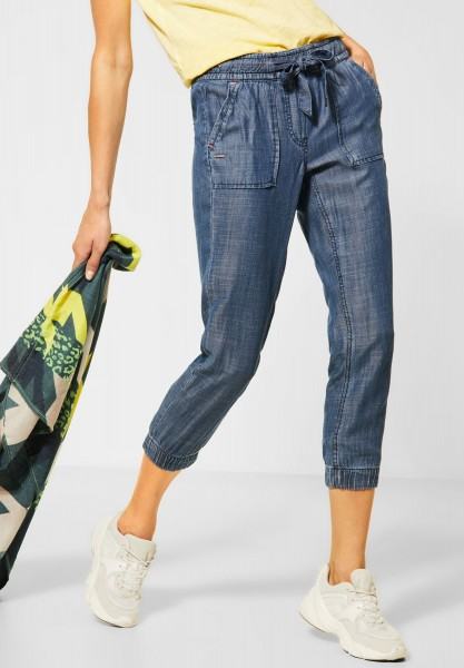 CECIL - Loose Fit Hose Chelsea in Authentic Used Wash