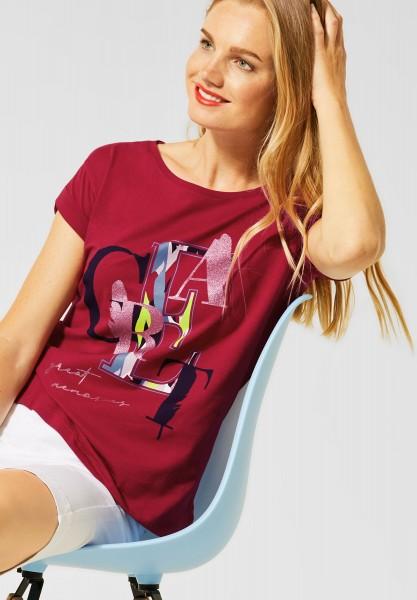 Street One - T-Shirt mit Print in Sweet Wine