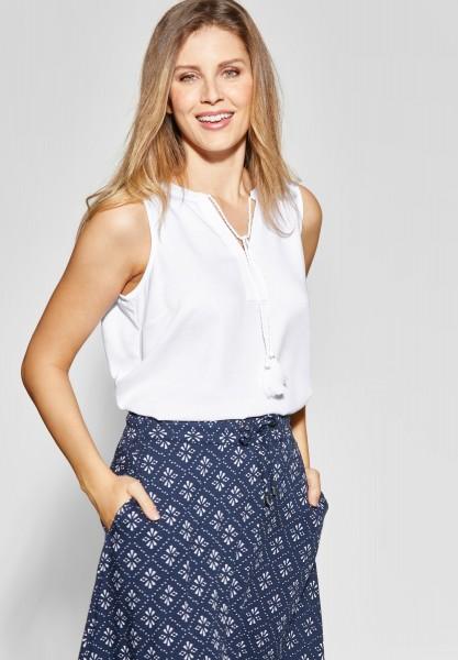 CECIL - Ärmellose Tunika-Style Bluse in White