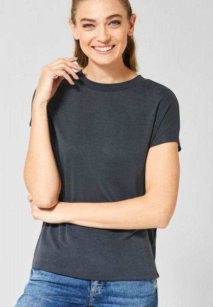 Street One - Lockeres T-Shirt Indra in Neo Grey