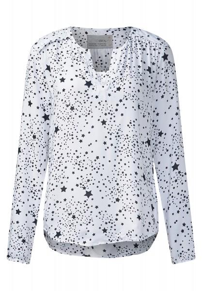 CECIL - Starprint-Viskosebluse White