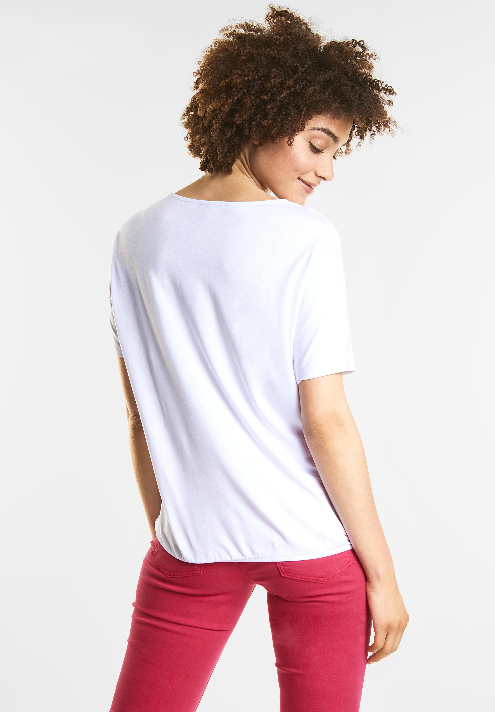 b5e32e6575bb0f ... Vorschau  Street One - Schlichtes V-Neck Shirt in White ...