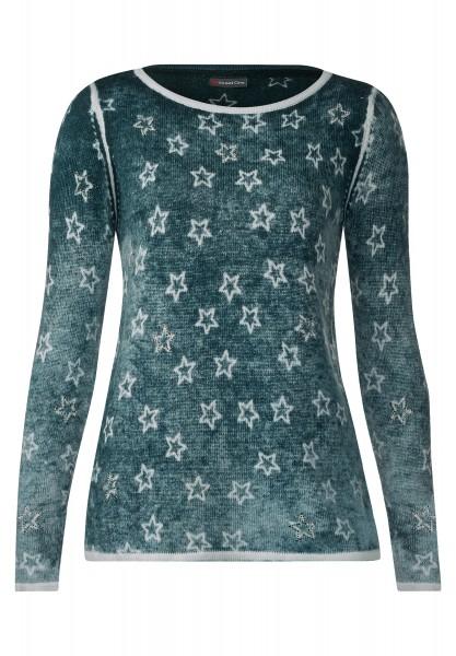 Street One - Pullover mit Sternen Ella Urban Green