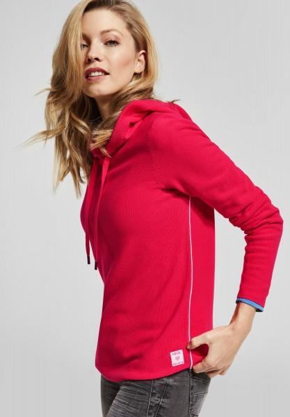 CECIL - Sportlicher Hoodie Pullover in Camellia Rose
