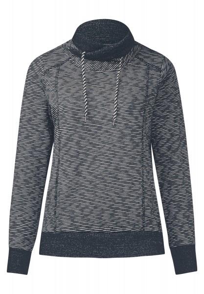 CECIL - Sweatshirt mit Streifen Deep Blue