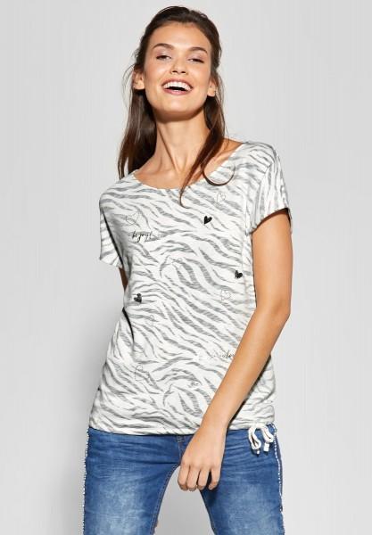 Street One - T-Shirt Abelia in Off White